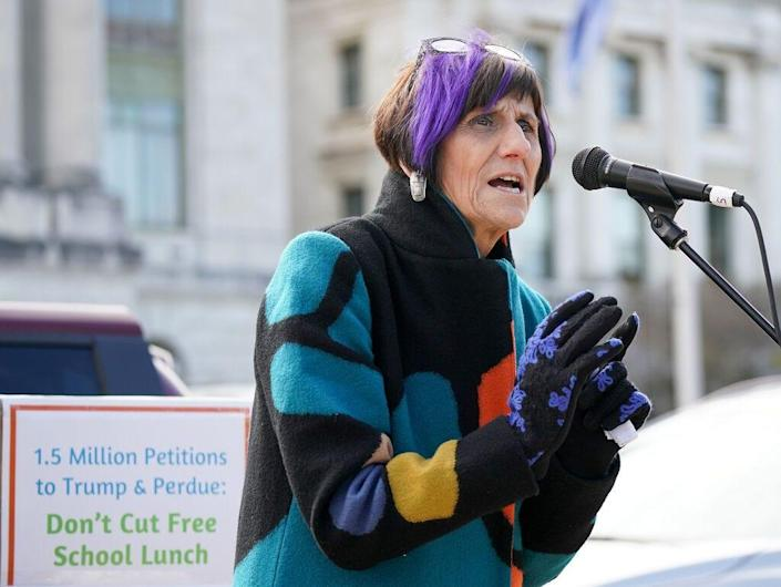 """Rep. Rosa DeLauro, D-Conn., says the expansion of a tax credit for families could be """"as big a change as with the New Deal and SocialSecurity."""""""
