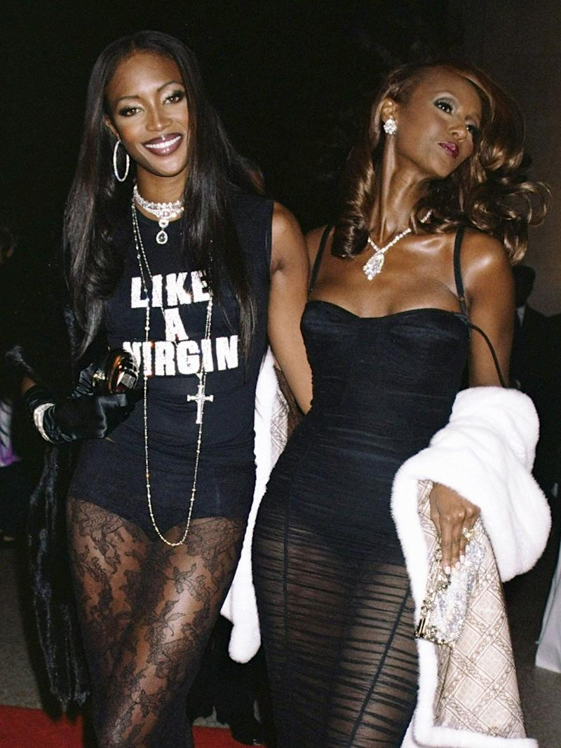 """Naomi Campbell and Iman, 2001, """"Jacqueline Kennedy: The White House Years"""""""