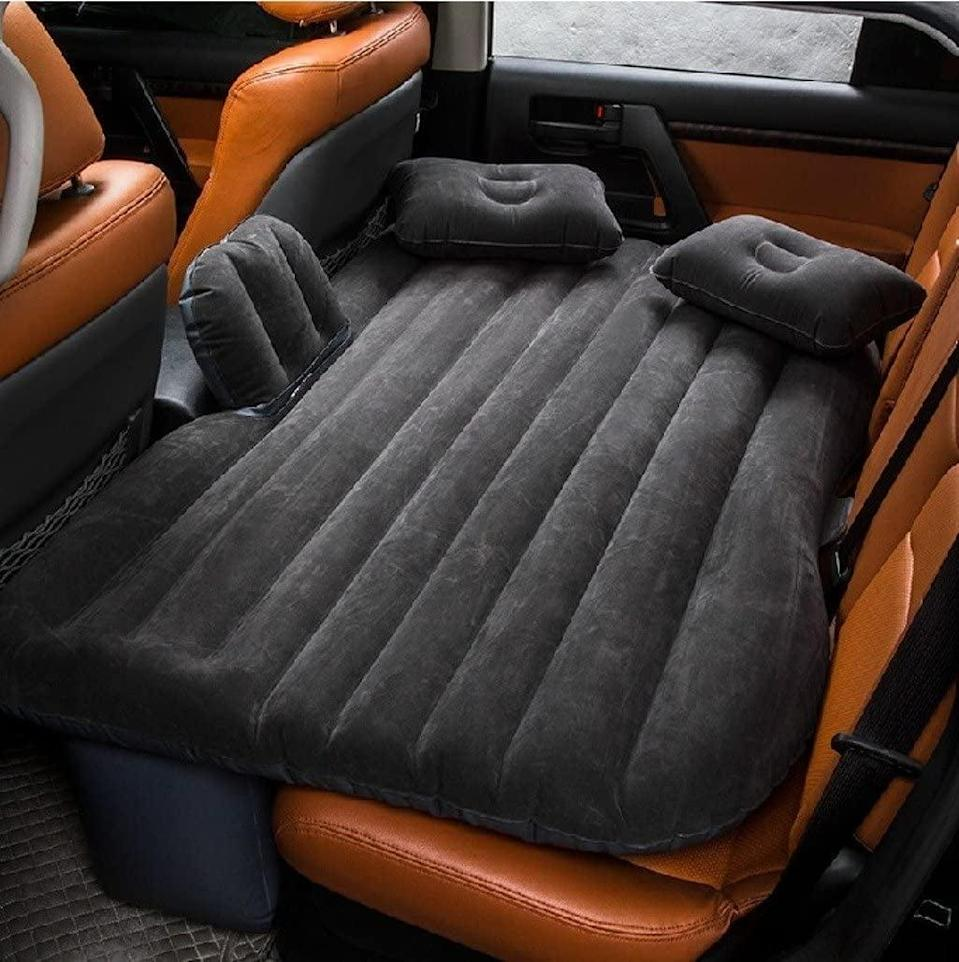 <p>Sometimes long road trips require camping out, and the <span>Portable Camping Air Mattress</span> ($36) fits perfectly in car back seats. </p>