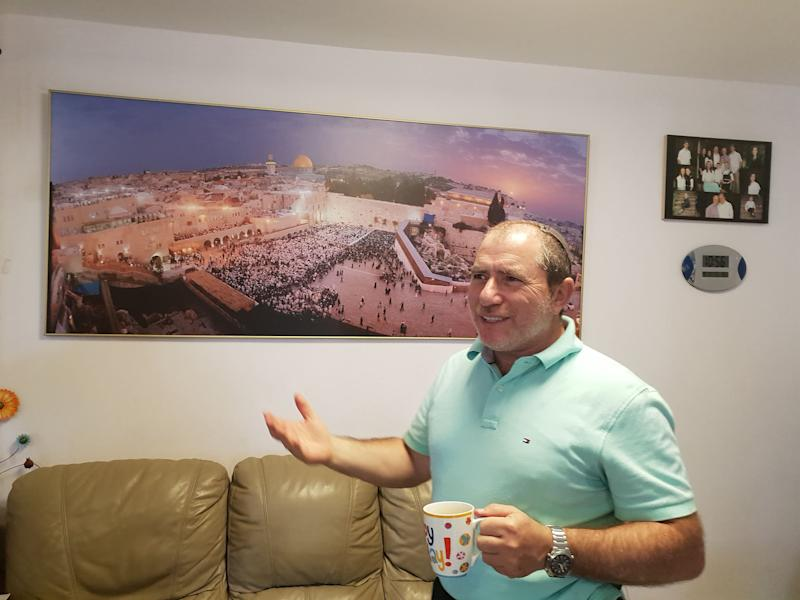 Beit El Jewish settler Chaim Silberstein stands in his home east of Jerusalem: Nelofer Pazira