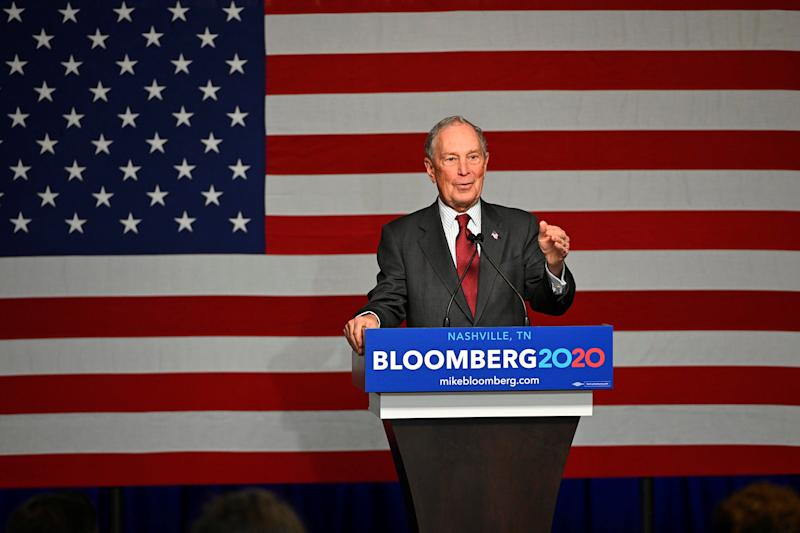 Democratic presidential candidate Mike Bloomberg opens his Tennessee 2020 campaign headquarters in Nashville, Tennessee, U.S. December 19, 2019. REUTERS/Harrison McClary