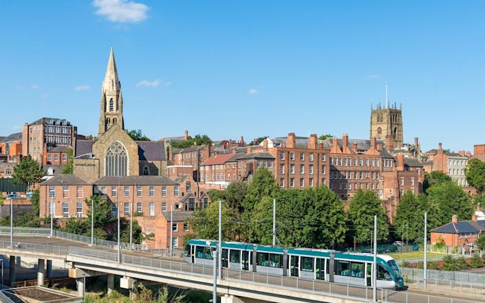 Despite its modern tram system and history, Nottingham's future remains uncertain until big investment is made - Chris Hepburn/Photolibrary RM