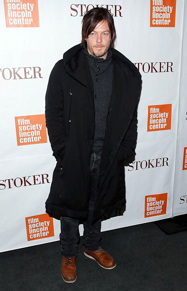 """Norman Reedus attends the """"Stoker"""" New York Screening at The Film Society of Lincoln Center, Walter Reade Theatre on February 27, 2013 in New York City."""