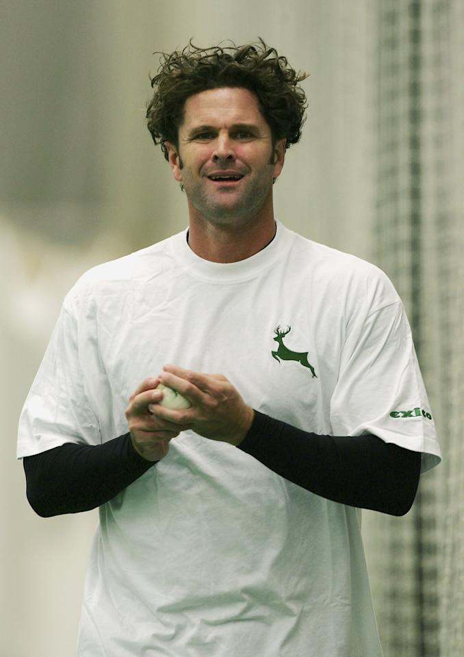 Chris Cairns of Nottinghamshire practises in the nets before the Liverpool Victoria County Championship Division One match between Nottinghamshire and Yorkshire at Trent Bridge   on April 21, 2006 in Nottingham, England.