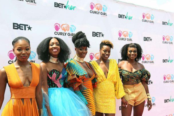 PHOTO: Founders of Curl Festival: Left: Gia Lowe, Tracey Coleman, Simone Mair, Melody Henderson and Charisse Higgins (Marquis Hughes/ABC)
