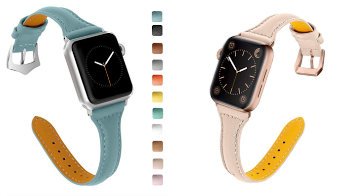 Stick with a classic leather band to keep it simple.