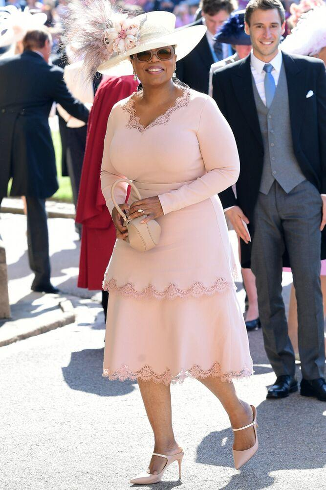 Oprah Winfrey at Meghan Markle and Prince Harry's wedding | Ian West/PA Wire