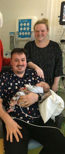 """PHOTO: Parents Emma and Wayne Bates call Erin their """"miracle child"""" after they tried for ten years to have children. (Emma and Wayne Bates)"""