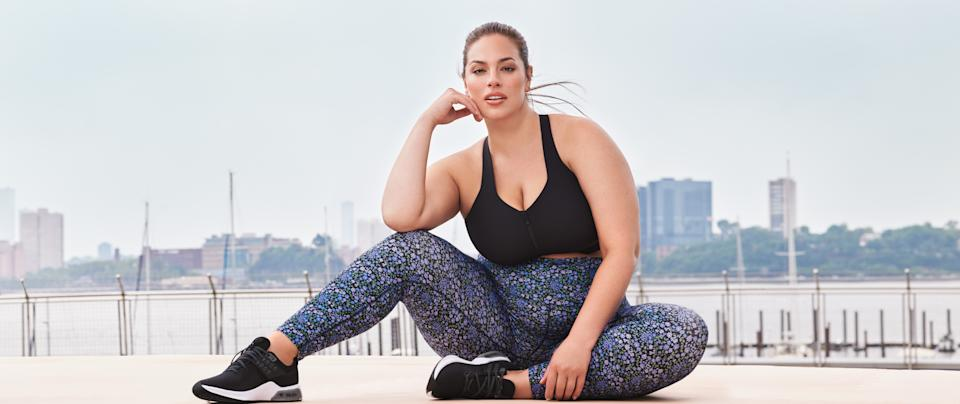 Ashley Graham stars in the newest Knix Active campaign. Image courtesy of Knix.