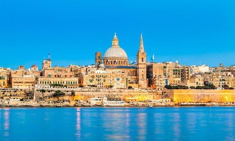 Malta's capital, Valletta - Credit: GETTY