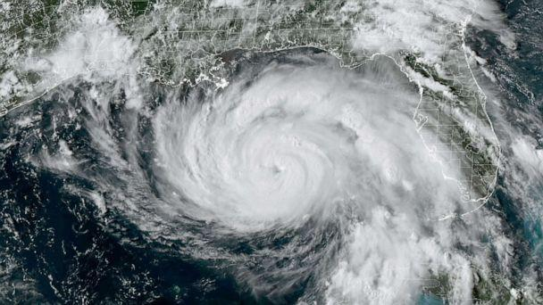 PHOTO: This National Oceanic and Atmospheric Administration/GOES satellite handout image shows Hurricane Ida at 5:01 p.m. ET, on Aug. 28, 2021. (Handout/NOAA/GOES/AFP via Getty Images)