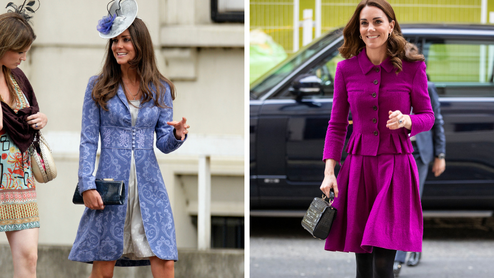 <p>A lot has happened to Kate Middleton in the last 10 years. She's married into the royal family, taken to public life like a duck has to water and, oh, she's had three children – Prince George, Princess Charlotte and Prince Louis. Photo: Getty </p>