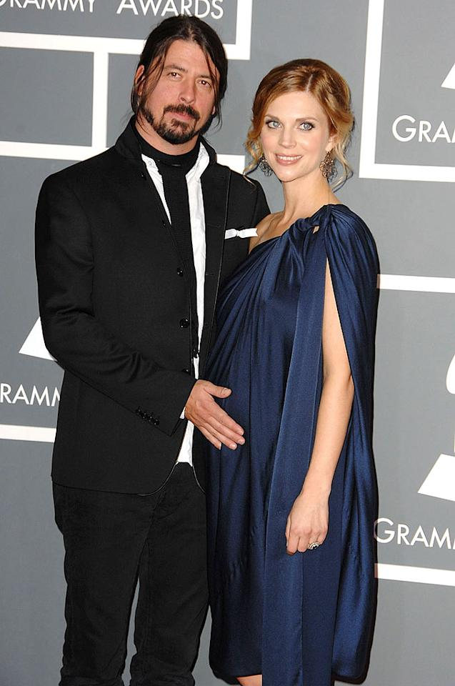 "Foo Fighters frontman Dave Grohl, 40, and his wife Jordyn Blum, 33, drummed up a second daughter on April 17. Grohl said his daughter Harper Willow Grohl was named after his great uncle Harper Bonebrake. Harper joins 3-year-old big sister Violet Maye. Steve Granitz/<a href=""http://www.wireimage.com"" target=""new"">WireImage.com</a> - February 8, 2009"
