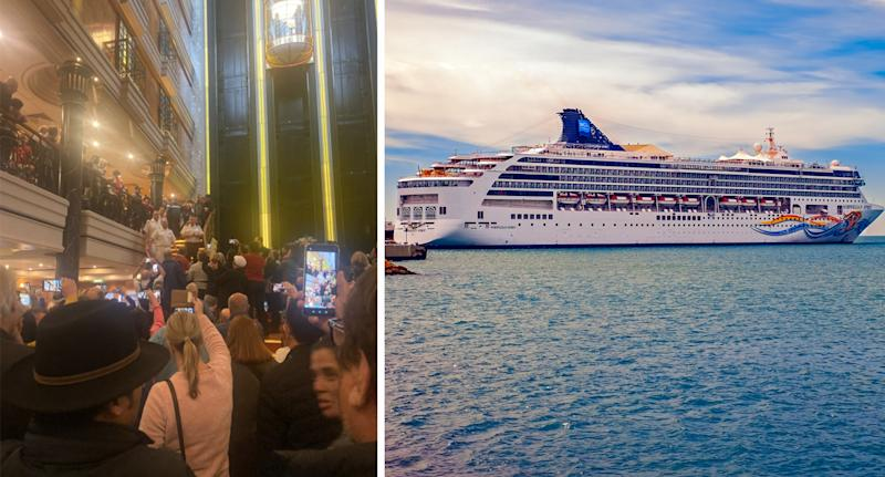 """Angry passengers on the the Norwegian Spirit wanted to get off after a """"holiday from hell"""" (Picture: Getty/Twitter)"""