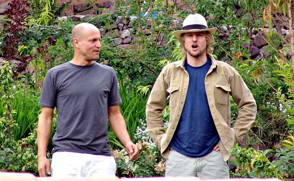 """Woody Harrelson and Owen Wilson avoided the cold by heading south of the equator to Peru, where they toured the historical city of Cuzco near Machu Picchu. Piko Press/<a href=""""http://www.splashnewsonline.com"""" target=""""new"""">Splash News</a> - December 7, 2007"""