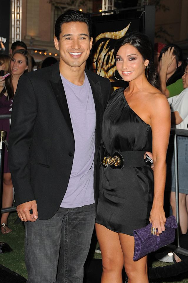 """<a href=""""http://movies.yahoo.com/movie/contributor/1800280677"""">Mario Lopez</a> and Courtney Mazza at the Los Angeles premiere of <a href=""""http://movies.yahoo.com/movie/1810033914/info"""">Fame</a> - 09/23/2009"""