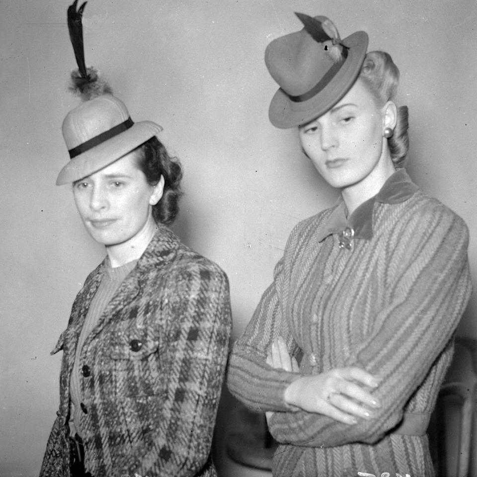 <p>And not just any fascinator hats, but little baby bowler ones. </p>