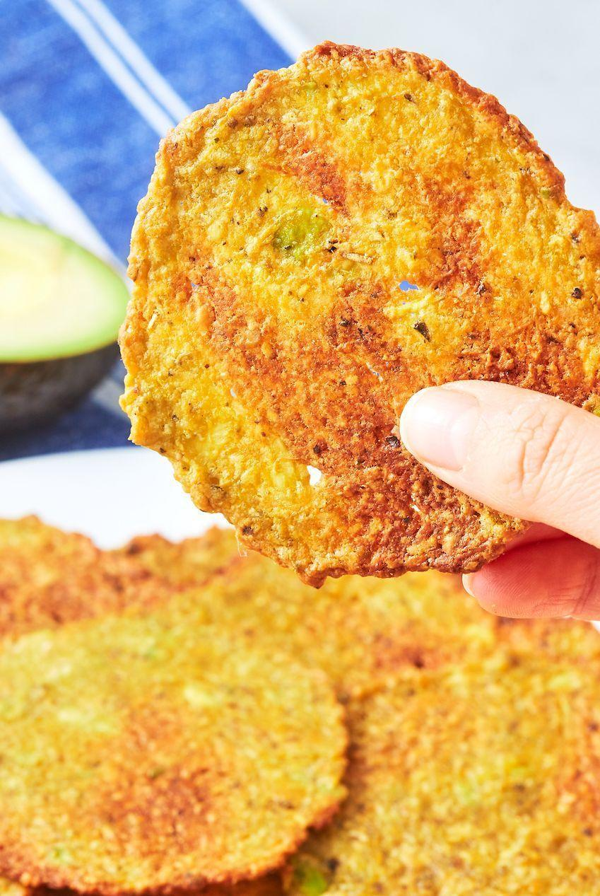 "<p>This recipe is super easy, and totally mess-free! </p><p>Get the <a href=""https://www.delish.com/uk/cooking/recipes/a28996170/avocado-chips-recipe/"" rel=""nofollow noopener"" target=""_blank"" data-ylk=""slk:Avocado Crisps"" class=""link rapid-noclick-resp"">Avocado Crisps</a> recipe.</p>"