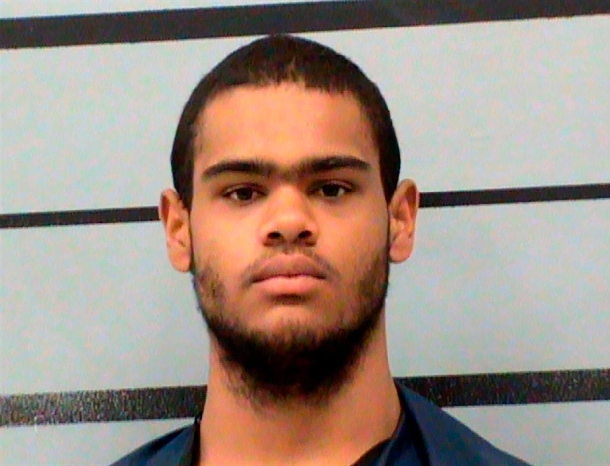 This undated photo from the Lubbock County Jail shows, William Patrick Williams. The West Texas man whom investigators said was planning a mass shooting has been charged with making false statements to a firearms dealer. Federal agents arrested Williams on Thursday, Aug. 1, 2019, after his discharge from a hospital. According to a criminal complaint, the Lubbock man had told his grandmother that he'd bought an AK-47 rifle recently, planned to