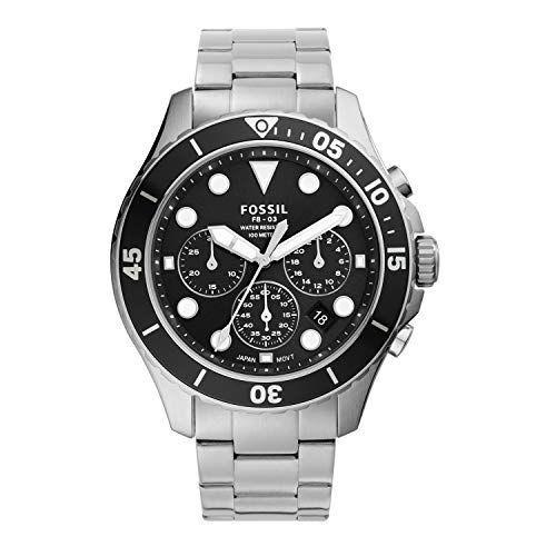 """<p><strong>Fossil</strong></p><p>amazon.com</p><p><strong>$88.64</strong></p><p><a href=""""https://www.amazon.com/dp/B0868VBB6G?tag=syn-yahoo-20&ascsubtag=%5Bartid%7C2139.g.36673991%5Bsrc%7Cyahoo-us"""" rel=""""nofollow noopener"""" target=""""_blank"""" data-ylk=""""slk:BUY IT HERE"""" class=""""link rapid-noclick-resp"""">BUY IT HERE</a></p><p>It's on the higher end of our price spectrum, but Fossil's stainless steel watch is worth the (relative) splurge: It comes with chronograph functionality, meaning you can use it as an accurate stopwatch as well as a regular timepiece. <br></p>"""