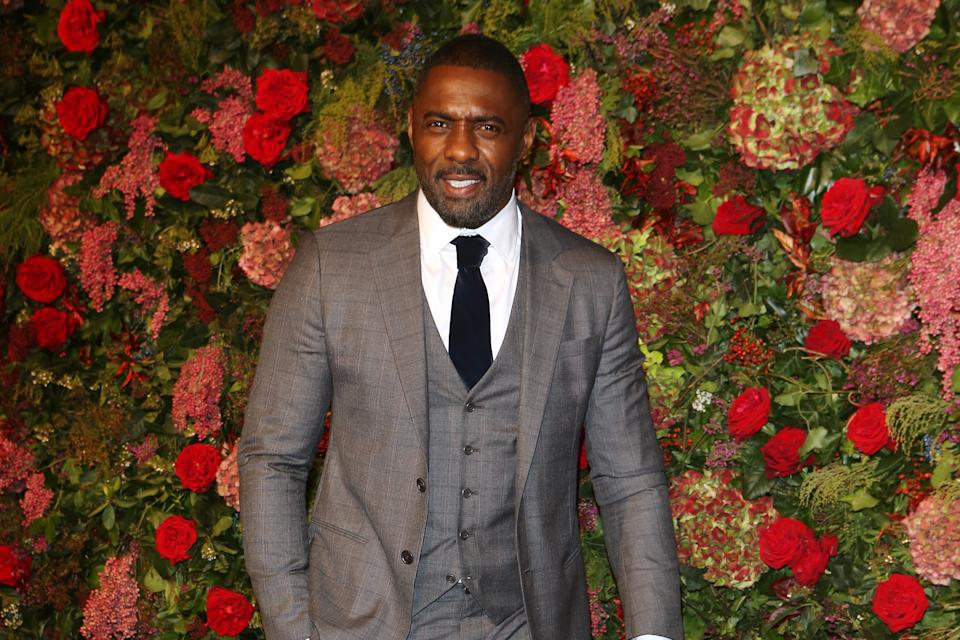 LONDON, ENGLAND - NOVEMBER 18:   Idris Elba   arrives at The 64th Evening Standard Theatre Awards at the Theatre Royal, Drury Lane, on November 18, 2018 in London, England.  (Photo by David M. Benett/Dave Benett/Getty Images)