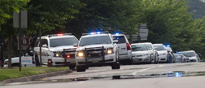 Police work the scene of a mass shooting at the Virginia Beach city public works building May 31, 2019 in Virginia Beach, Va. (Photo: L. Todd Spencer/The Virginian-Pilot via AP)