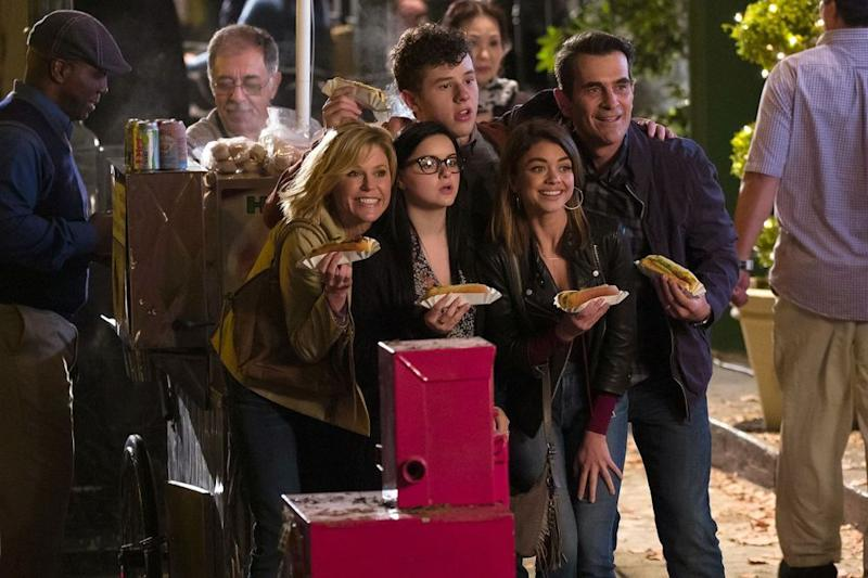 Julie Bowen (left), Ariel Winter, Nolan Gould, Sarah Hyland and Ty Burrell