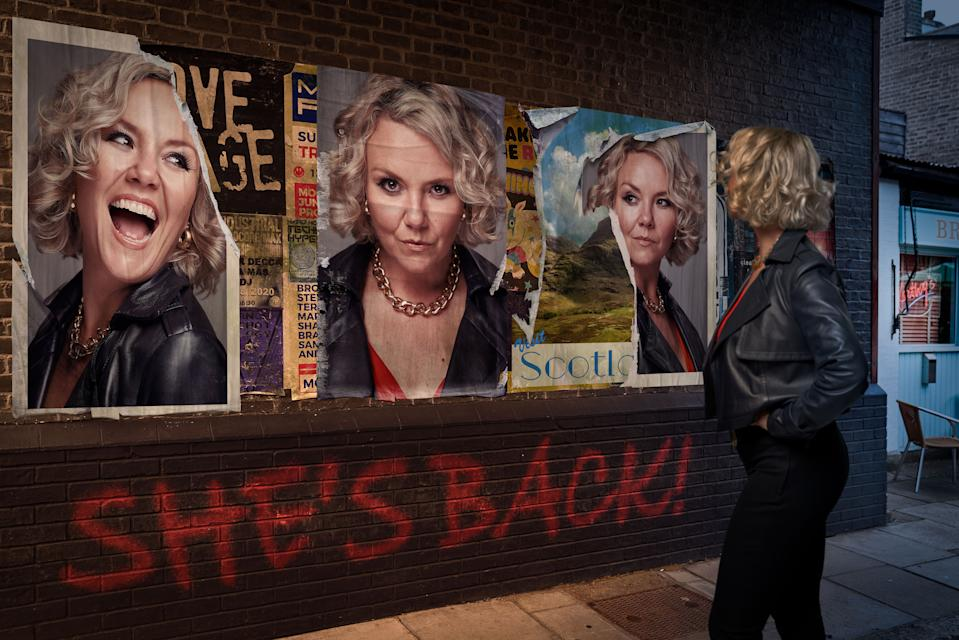 WARNING: Embargoed for publication until 00:00:01 on 31/08/2021 - Programme Name: EastEnders - Portraits 2021 - TX: 06/09/2021 - Episode: EastEnders - Janine Butcher Iconic (No. n/a) - Picture Shows: ***EMBARGOED TILL TUESDAY 31ST AUGUST 2021*** Janine Butcher (CHARLIE BROOKS) - (C) BBC - Photographer: Kieron McCarron