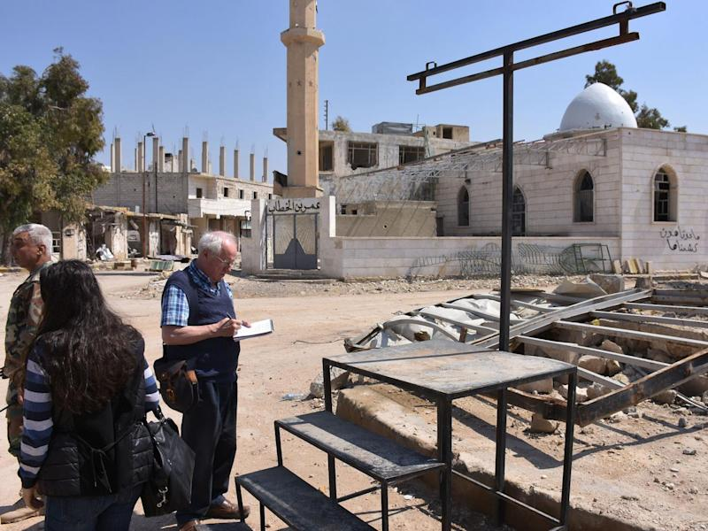 Robert Fisk reports from the front line in Tader, Syria