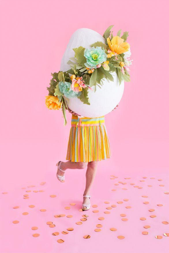 """<p>Kids will love to take pictures with this extra-large paper mache egg at the next Easter party.</p><p><em><a href=""""http://ohhappyday.com/2016/03/giant-floral-easter-egg/"""" rel=""""nofollow noopener"""" target=""""_blank"""" data-ylk=""""slk:Get the tutorial at Oh Happy Day »"""" class=""""link rapid-noclick-resp"""">Get the tutorial at Oh Happy Day »</a></em></p><p><a class=""""link rapid-noclick-resp"""" href=""""https://www.amazon.com/Balloon-Pearlescent-Premium-Quality-PMU/dp/B00CXRNI7K?tag=syn-yahoo-20&ascsubtag=%5Bartid%7C10055.g.2217%5Bsrc%7Cyahoo-us"""" rel=""""nofollow noopener"""" target=""""_blank"""" data-ylk=""""slk:BUY X-LARGE BALLOON"""">BUY X-LARGE BALLOON</a><br> </p>"""