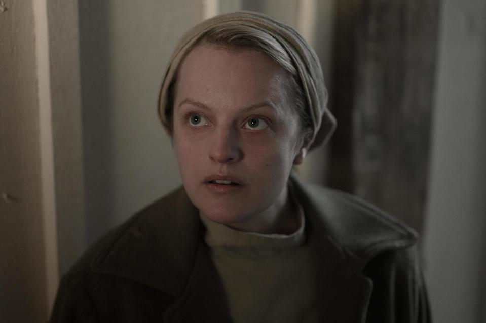 """<p>There are a few scenes where we get to see June a bit more pulled together, like in the courtroom when she says """"I ask for justice."""" She's dressed in a black blazer with her short bob haircut in tousled, messy waves. She's wearing visible, soft makeup but she still very much looks like she's in distress. """"It's not too different because we don't want to take the viewer out of the plot [and have it] be a little bit too jarring,"""" said LeBlanc. He brushed up her brows a little, tried to conceal the dark circles under her eyes slightly, and gave her a subtle lip stain. """"Like she made an effort, she's trying her best, but she's still traumatized and she's still dealing with a lot of stuff.""""</p> <p>To get that barely there lip color he used the <a href=""""https://www.ulta.com/lip-cheek-stain-tint?productId=pimprod2008308&amp;sku=2547730"""" class=""""link rapid-noclick-resp"""" rel=""""nofollow noopener"""" target=""""_blank"""" data-ylk=""""slk:Benefit Cosmetics Cheek and Lip Tint"""">Benefit Cosmetics Cheek and Lip Tint</a> ($18).</p>"""