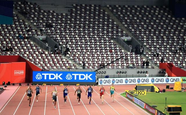 The Khalifa International Stadium was often largely empty (Mike Egerton/PA)