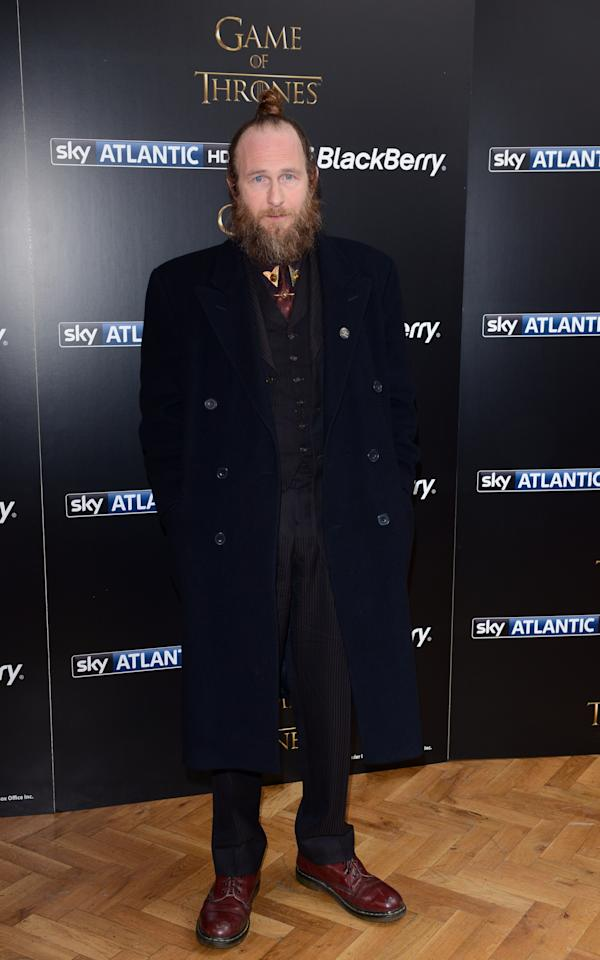 LONDON, UNITED KINGDOM - MARCH 26: Paul Kaye attends the season launch of 'Game of Thrones' at One Marylebone on March 26, 2013 in London, England. (Photo by Karwai Tang/Getty Images)