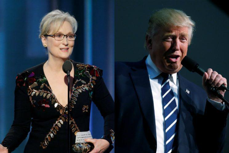 Streep and Trump (Photo: Reuters/AP)