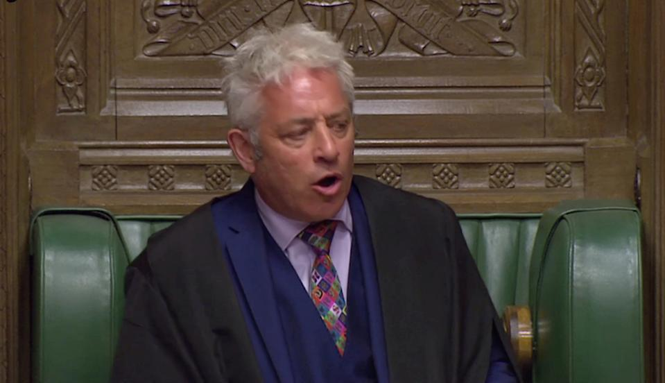 Speaker of the House of Commons John Bercow (Parliament TV via REUTERS)
