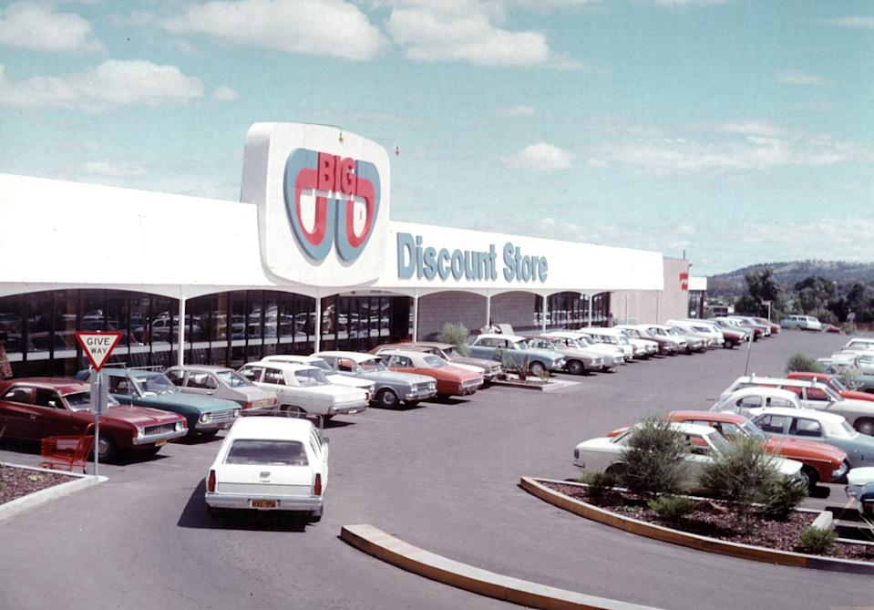 The first BIG W Discount Store which opened in Tamworth, NSW in 1976. Photo: Big W (supplied).