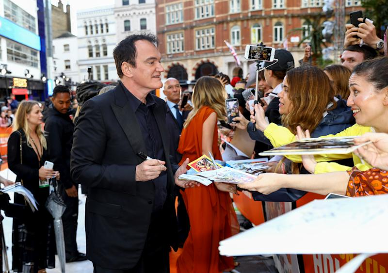 LONDON, ENGLAND - JULY 30: Quentin Tarantino attends the UK Premiere of Once Upon A Time...In Hollywood at Odeon Luxe Leicester Square on July 30, 2019 in London, England. (Photo by Tim P. Whitby/Getty Images for Sony)