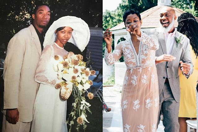 Two decades later, this couple looks better than ever. (Photo: Mecca Mayers/Catherine Rogers)