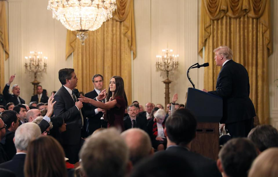 <em>CNN's Jim Acosta has had his White House pass suspended following the press conference with Donald Trump (Reuters)</em>