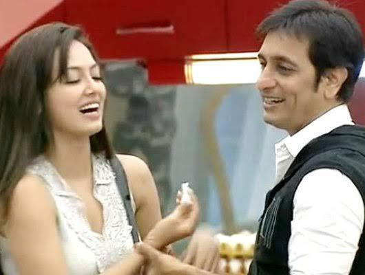 Sana Khan and Rajeev Paul came together during their stay in <em>Bigg Boss Season 6</em>. It was a little awkward in the sense Rajeev's estranged wife Delnaaz Irani was also locked in the house with the two and was made to witness their expressions of affection. After being evicting from the house, Sana shocked her <em>Bigg Boss</em> viewers by stating Rajeev and she were only friends. She dated choreographer Mevis Louis for a while, throwing in shots of their PDA all over social media.
