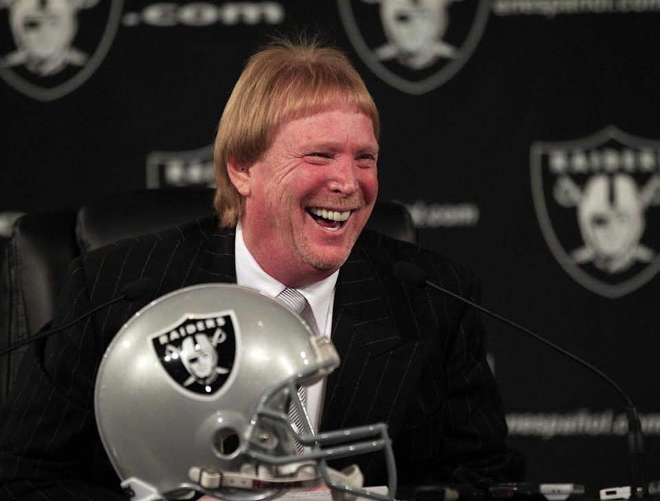 Oakland Raiders owner Mark Davis in early 2012, about 13 years after he reportedly bought lasvegasraiders.com. (AP)
