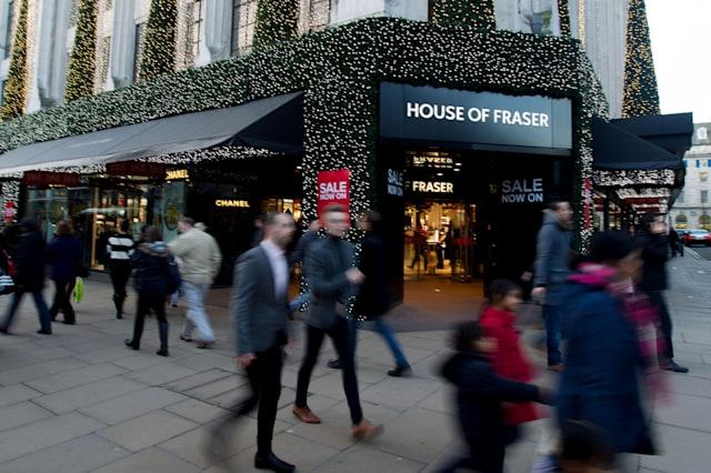Record Christmas at House of Fraser
