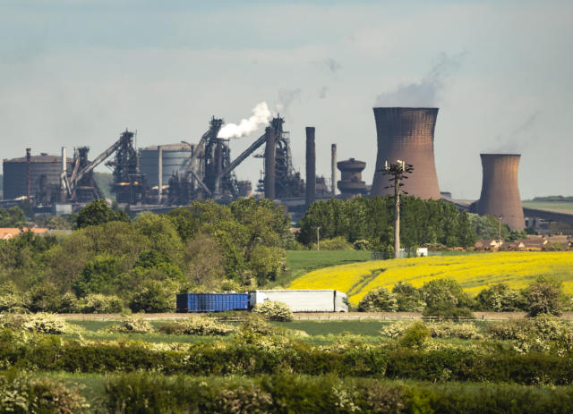 The steelworks plant in Scunthorpe as owner British Steel is to go into official recievership after failing to secure funds for its future. Photo: Press Association