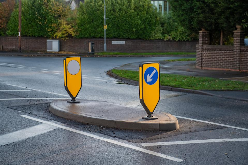 Zakir Malik cannot reverse out or turn right into his own drive on Coleshill Road. (SWNS)