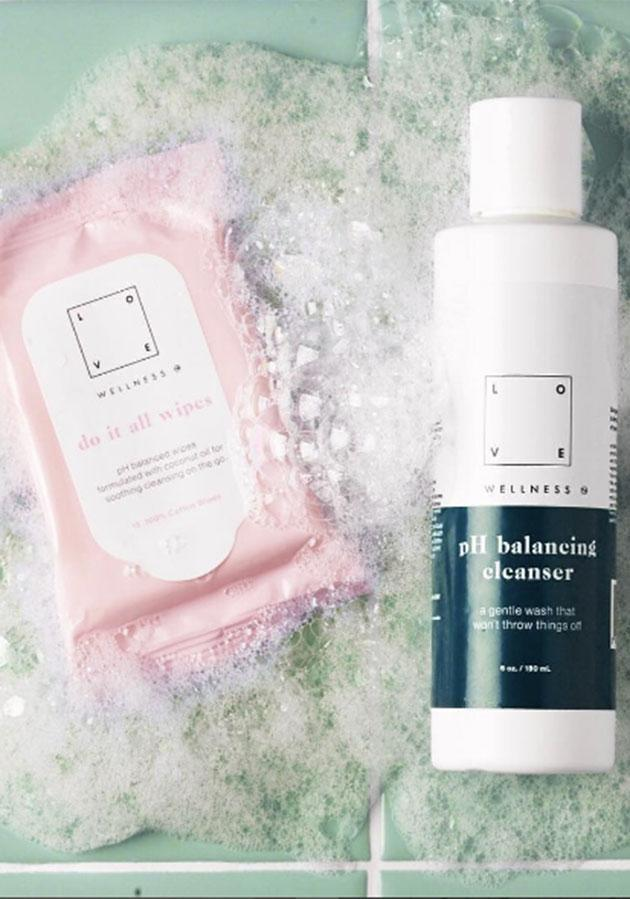 pH-balanced wipes and a cleanser are available in the line. (Photo: Instagram)