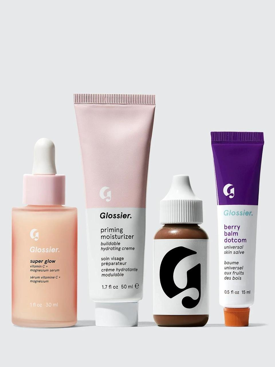"<p><strong>Glossier</strong></p><p>glossier.com</p><p><a href=""https://go.redirectingat.com?id=74968X1596630&url=https%3A%2F%2Fwww.glossier.com%2Fproducts%2Fspecial-3-perfect-canvas-set&sref=https%3A%2F%2Fwww.bestproducts.com%2Flifestyle%2Fg34618159%2Fblack-friday-cyber-monday-deals-2020%2F"" rel=""nofollow noopener"" target=""_blank"" data-ylk=""slk:Shop Now"" class=""link rapid-noclick-resp"">Shop Now</a></p><p><strong><del>$88</del> $54.75 (38% off) </strong></p><p>Everything you need to recreate that coveted minimal no-makeup makeup look is in this four step full-size set from Glossier. Start with the brand's Super Glow Vitamin C serum to wake up your skin, then layer on their 2-in-1 Priming Moisturizer for a surge of hydration. Add a dab of sheer Perfecting Skin Tint in a tone of your choice, and finish off your look with their cult favorite nourishing lip balm, Balm Dotcom.</p>"