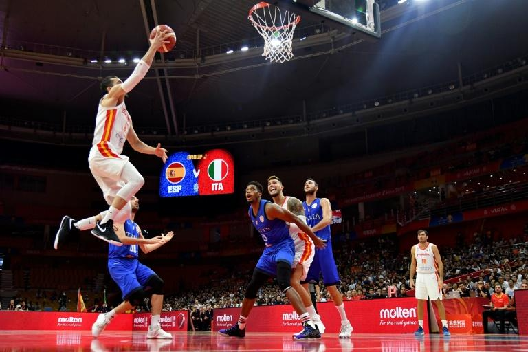 Spain's Pau Ribas goes to the basket during their game against Italy which they won 67-60