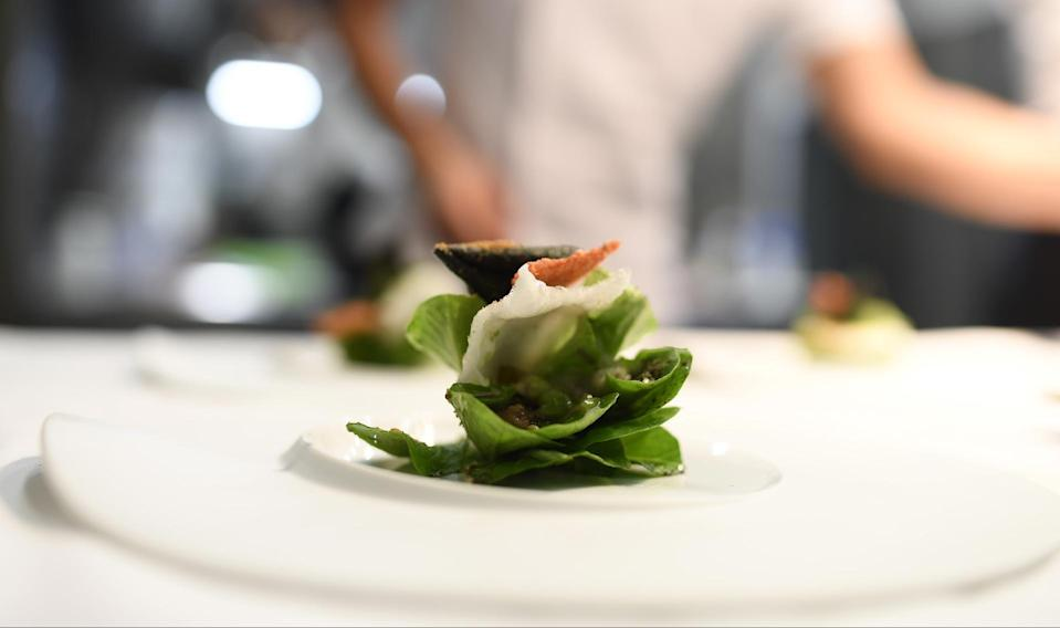 A small plate from Osteria Francescana in Italy, voted the world's best restaurant [Photo: Osteria Francescana]