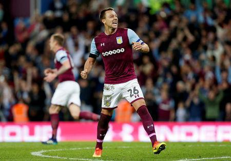 Soccer Football - Championship Play Off Semi Final Second Leg - Aston Villa v Middlesbrough - Villa Park, Birmingham, Britain - May 15, 2018 Aston Villa's John Terry celebrates after the match Action Images via Reuters/Ed Sykes