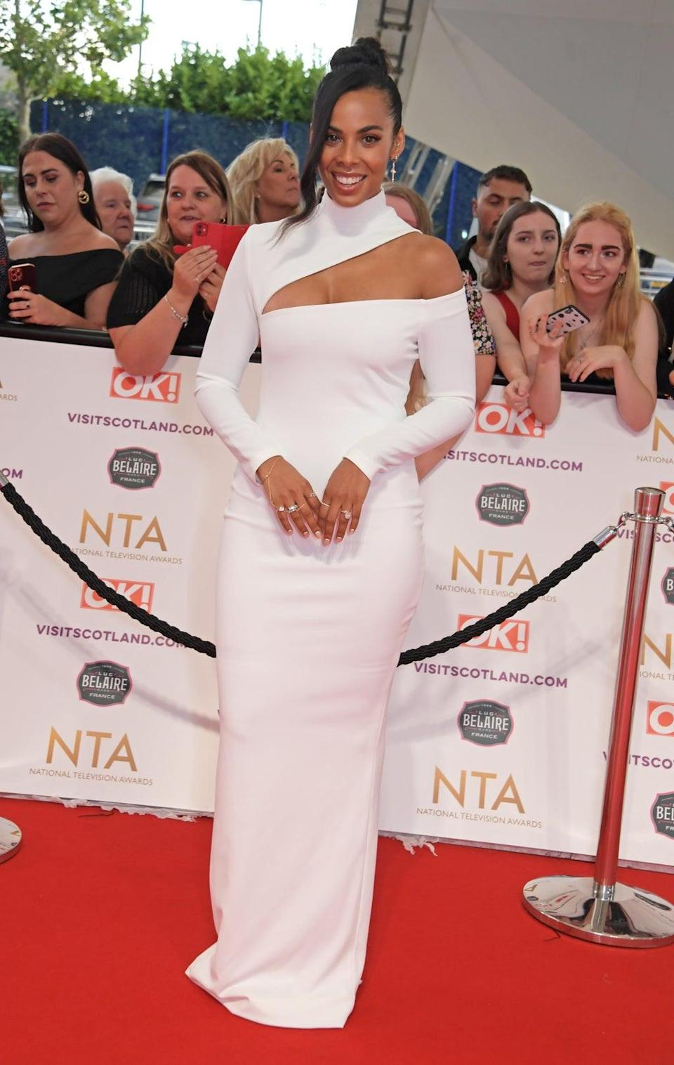 Rochelle Humes attends the National Television Awards 2021 at The O2 Arena in September (Dave Benett/Getty Images)